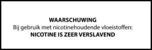 Nicotine waarschuwing