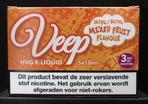 Veep HVG E-Liquid 5 x 10ml - Mixed Fruits