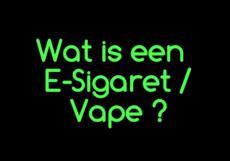 Wat is een E-Sigaret ?