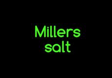 Millers salts €4,25